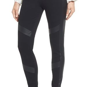 Two by Vince Camuto Faux Leather Chevron Leggings